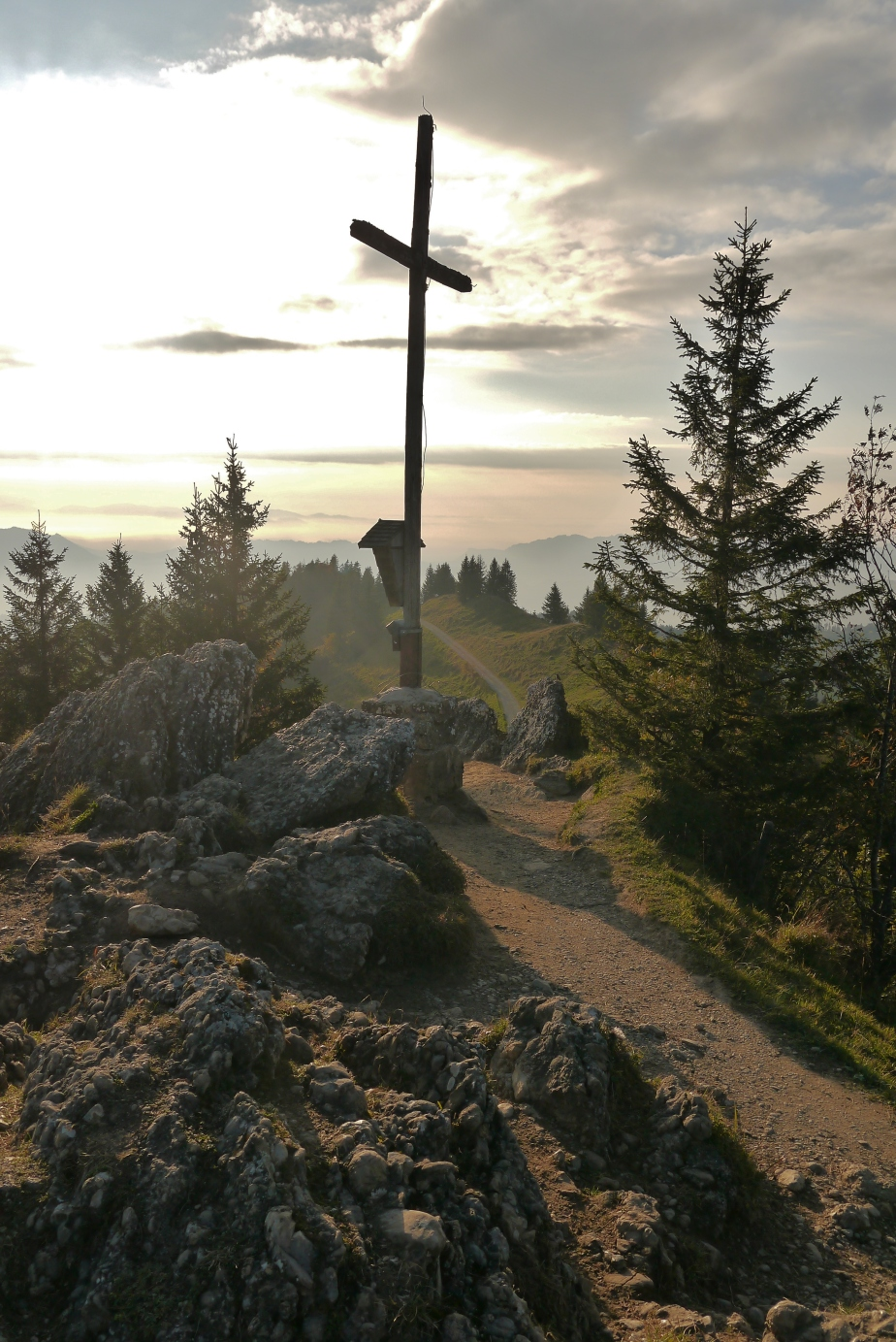 Aufstieg Hochhädderich Kreuz Allgäu