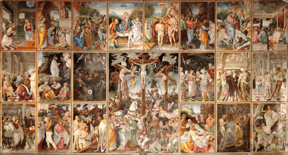 Szenen aus dem Leben und der Passion Jesu, Gaudenzio Ferrari [public domain, via Wikimedia]
