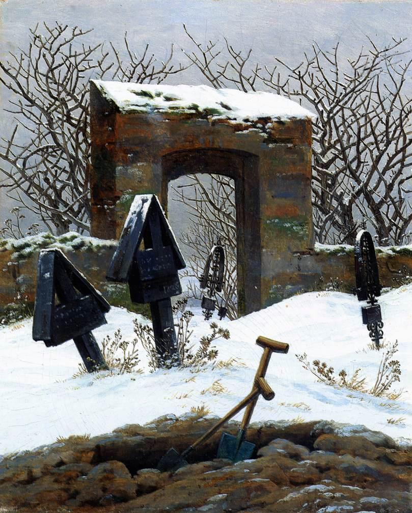 caspar_david_friedrich_-_graveyard_under_snow_-_museum_der_bildenden_kc3bcnste
