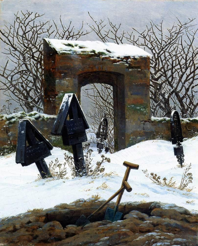 caspar_david_friedrich_-_graveyard_under_snow_-_museum_der_bildenden_kc3bcnste