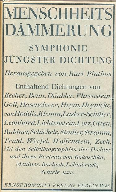 menschheitsdc3a4mmerung-_symphonie_jc3bcngster_dichtung-_rowohlt_1920