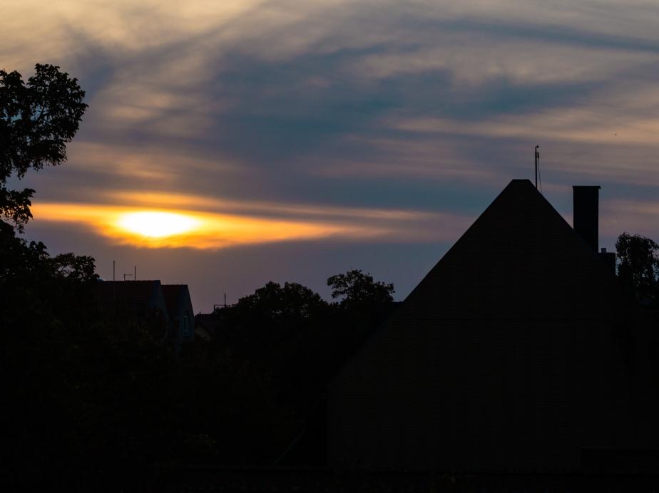 Sonnenuntergang über Lichtenrade